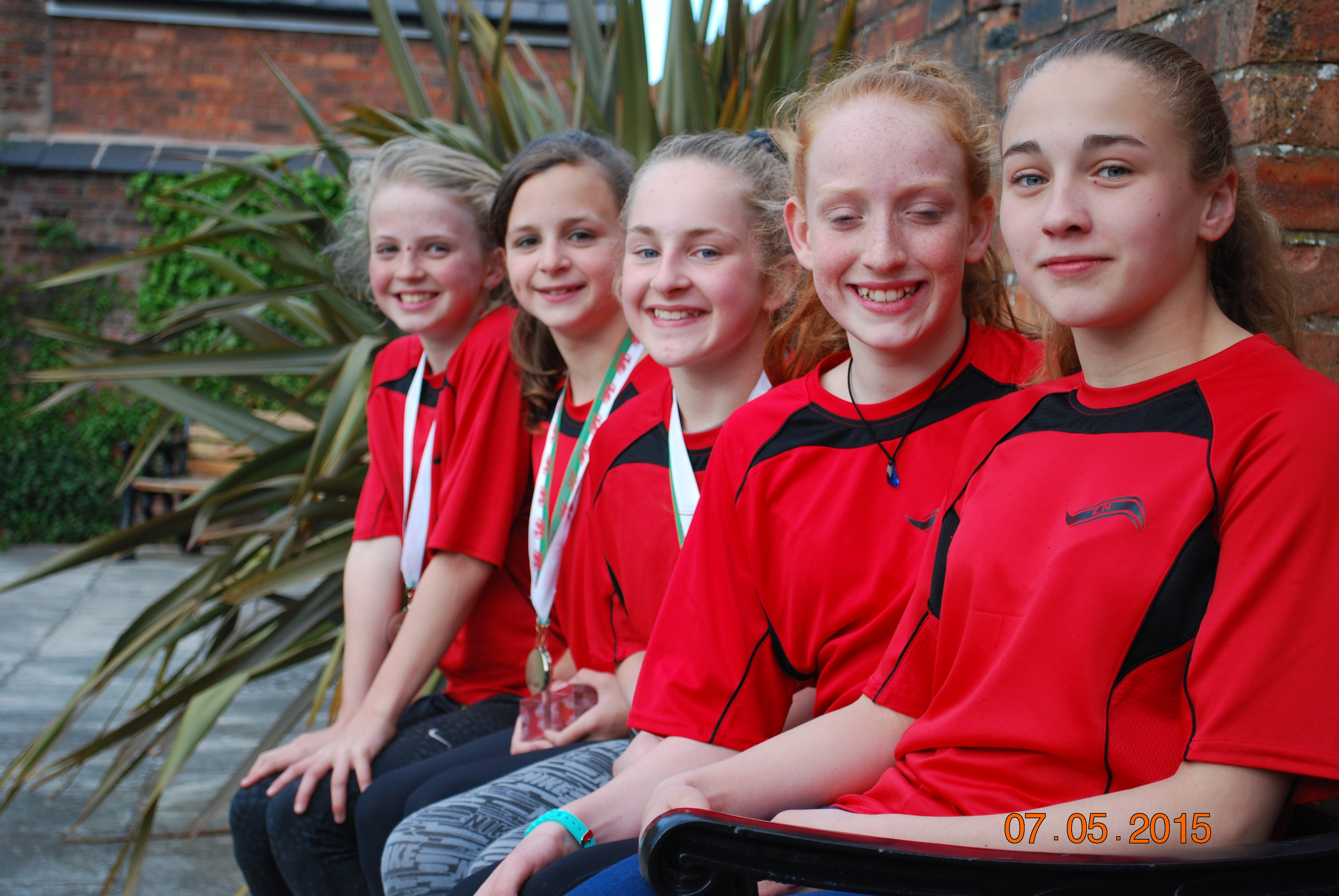Holywell ASC 2015 Girls who made up the Medely and Front Crawl Relay Teams